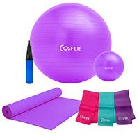 Cosfer CSFSET11 Pilates Seti Pilates Topu Pilates