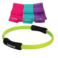 Cosfer CSFPCSET3Y Pilates Çemberi ve Pilates Bander CSF-PC
