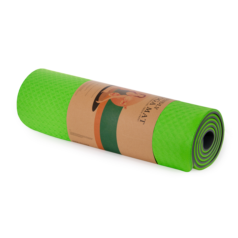 Cosfer 8Mm Çift Taraflı Çevre Dostu Yoga Matı Yeşil