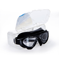 Cosfer CSF8170TS (Tam Siyah) Silikon Yüzücü Gözlüğü Şeffaf Özel Kutuda