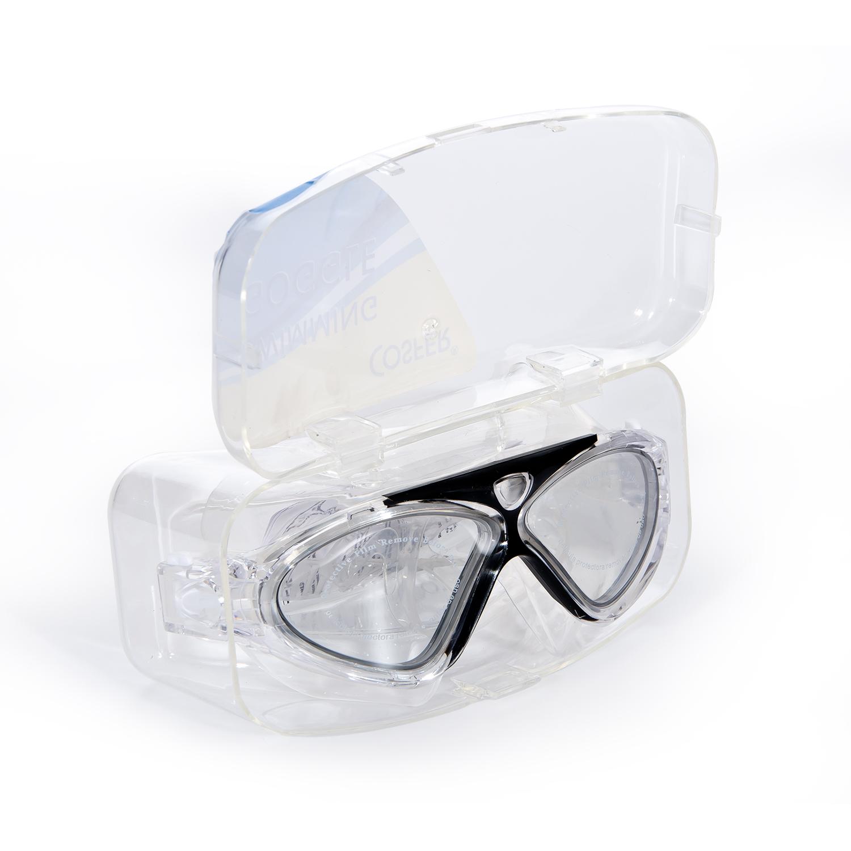 Cosfer CSF8170S (Siyah) Silikon Yüzücü Gözlüğü Şeffaf Özel Kutuda
