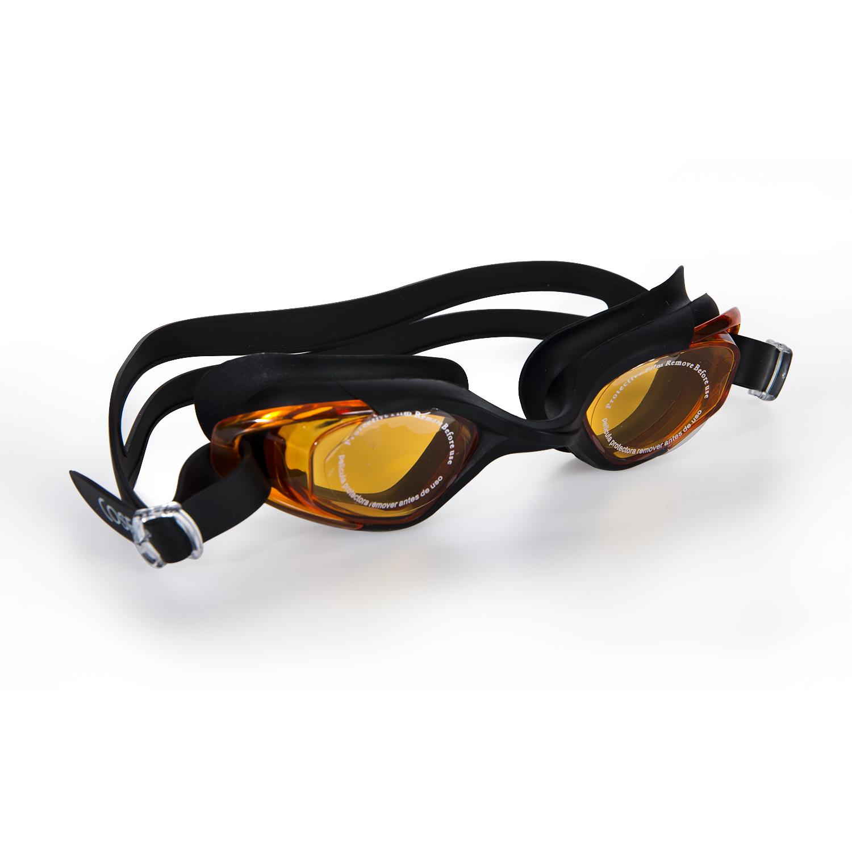 Cosfer CSFGS3SS (Siyah-Sarı) Silikon Yüzücü Gözlüğü Şeffaf Özel Kutuda