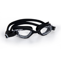 Cosfer CSFGS3S (Siyah) Silikon Yüzücü Gözlüğü Şeffaf Özel Kutuda