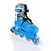 Cosfer TE202-ML Silikon Tekerlekli Plastik Paten 35-38 - Mavi